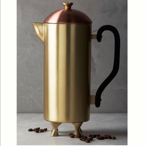Anthropologie brass and copper French press NEW